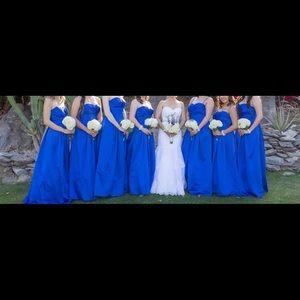 David's bridal bridesmaid dress horizon blue